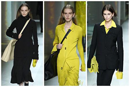 Bottega Veneta 於2020年義大利米蘭時裝周。(Getty Images/大紀元合成)