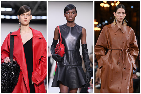 Valentino(左、中)和Stella McCartney 於2020年巴黎時尚周。(Getty Images/大紀元合成)
