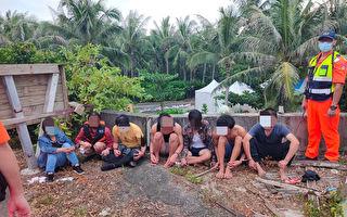 屏東逾30名越南偷渡客遭逮 有2人腹痛、頭痛