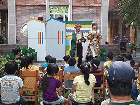 小茶壶儿童剧团至乡内沙坑国小办理廉洁教育校园宣导巡回活动。