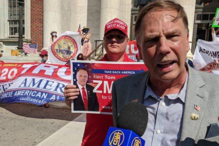 图为第6选区国会议员共和党籍参选人Tom Zmich,接受大纪元媒体集团采访。