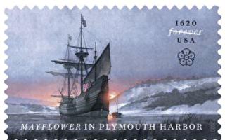 美国邮政局发行五月花号纪念邮票