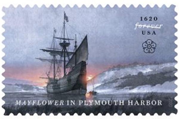 美國郵政局發行五月花號紀念郵票