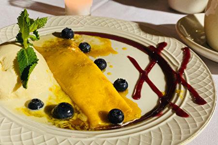 饭后别忘点盘西班牙式的可丽饼,爽甜的冰淇淋与芒果酱,让你甜到心坎儿里。