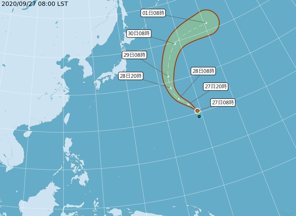 「鯨魚」颱風生成對台無影響 南北兩地溫差大