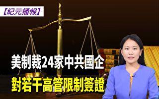 【纪元播报】美制裁24家中共国企 对若干高管限制签证