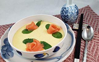 【梁厨美食】烟熏鲑鱼蒸蛋 口感滑嫩的秘诀