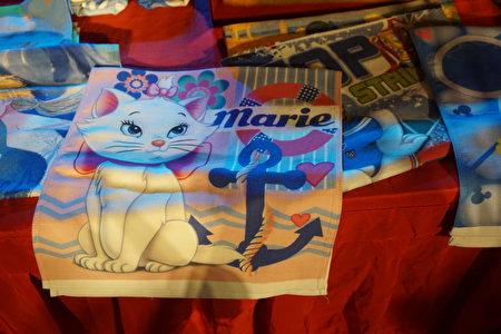 結合卡通圖案的創新毛巾。