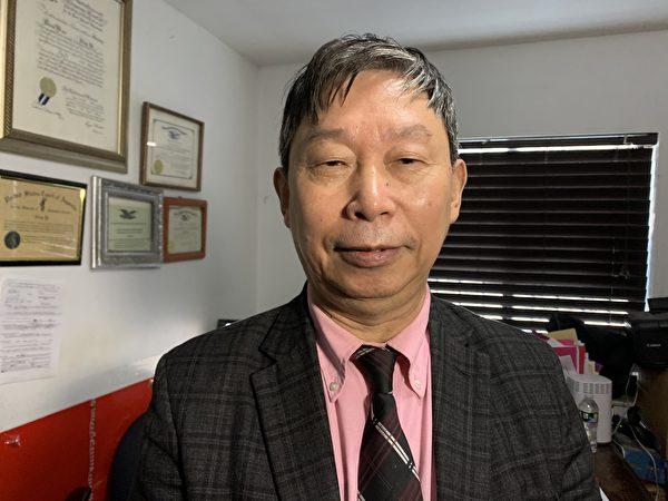移民律師葉寧提醒華人,美國在全面清理共產黨因素上動真格,昂旺案只是一個開始,華人應以昂旺案為戒,與中共劃清界線。(林丹/大紀元)