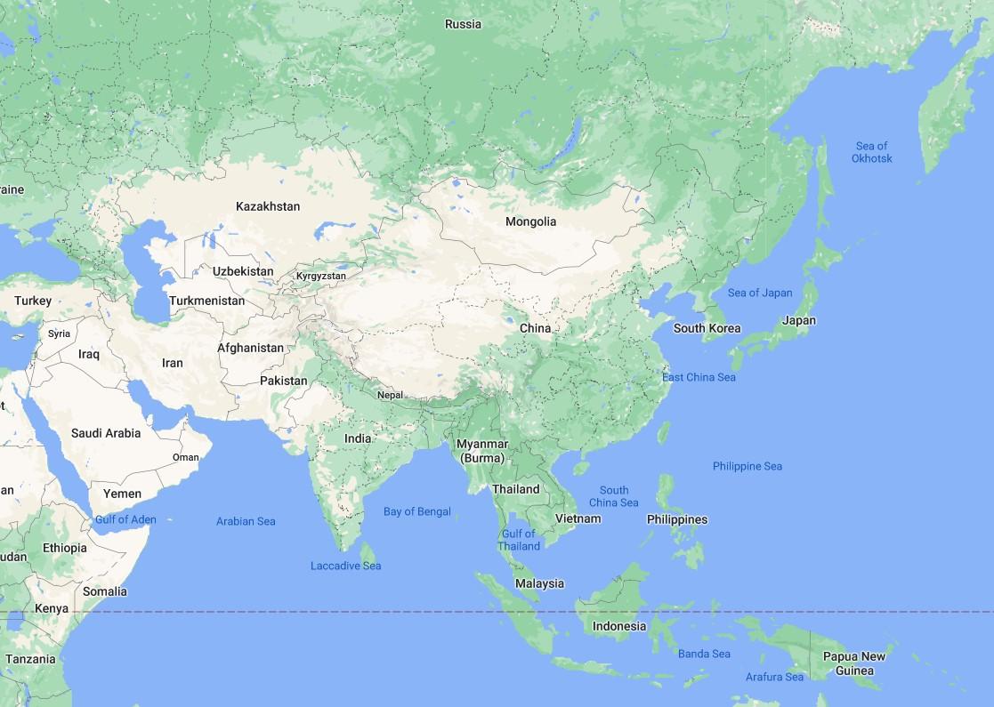 中共外交正面臨窘迫局面,無法維繫與近鄰的正常關係。圖為中國周邊國家示意圖。(大紀元製圖)