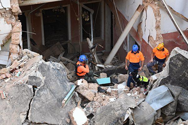 組圖:黎巴嫩大爆炸1個月 廢墟中現生命跡象