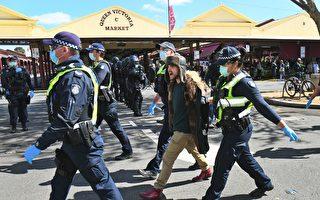 数百警察介入墨市封锁抗议集会 74人被捕