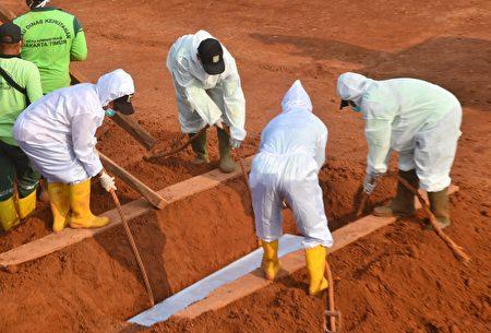 印尼防疫奇招 不戴口罩被罰為病故者挖墳墓