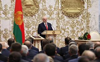 組圖:白俄總統祕密就職 民眾抗議遭水砲驅離