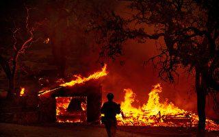 组图:加州两起新野火 一天烧毁近万英亩
