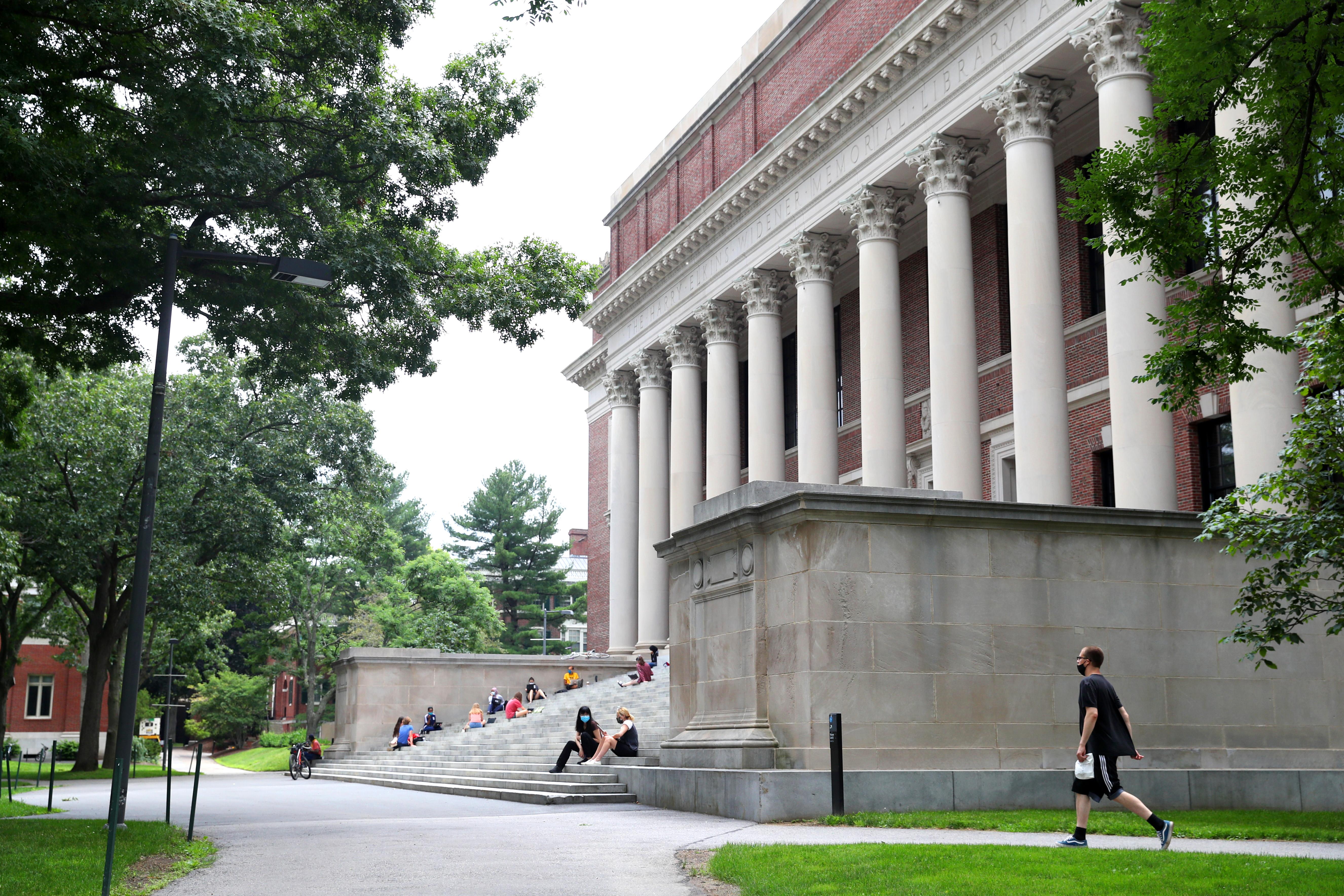 2020年7月8日,疫情期間的哈佛大學校園。(Maddie Meyer/Getty Images)