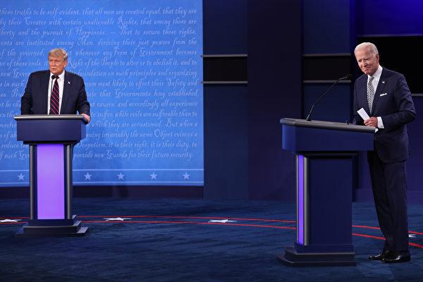 特朗普和拜登的首場辯論9月29日在俄亥俄州克利夫蘭舉行。(Win McNamee/Getty Images)