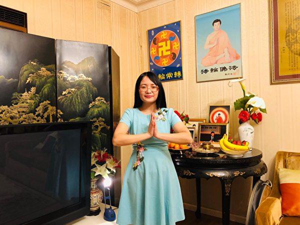 墨爾本越南裔法輪功學員Jenny祝願李洪志師父中秋快樂。(本人提供)
