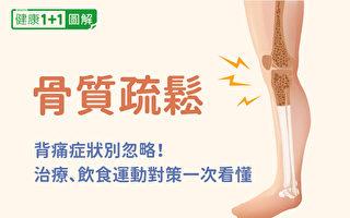 骨質疏鬆症狀有哪些、如何治療?怎樣通過飲食和運動預防?(健康1+1/大紀元)