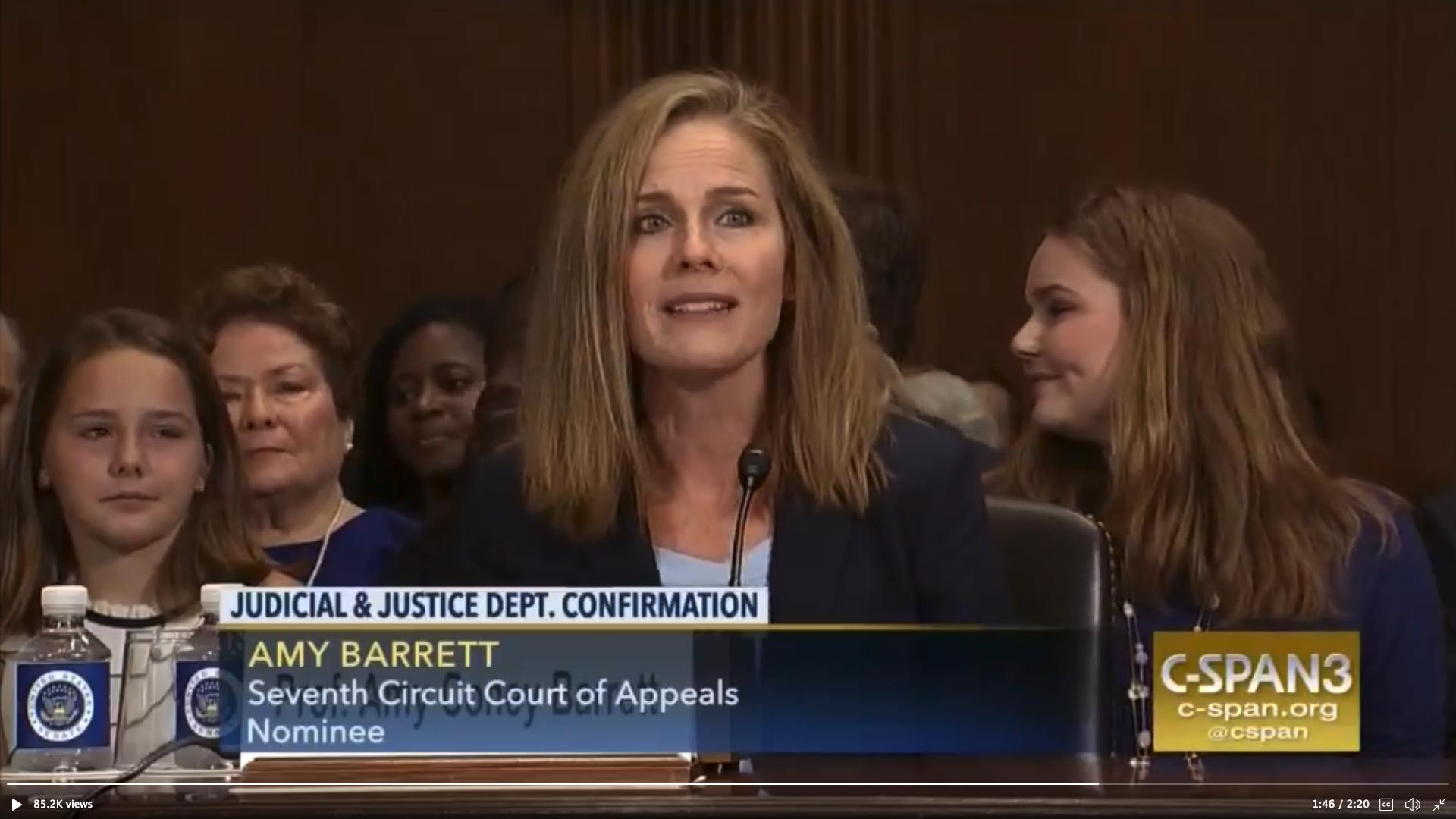 消息:特朗普選定巴雷特擔任高院的大法官
