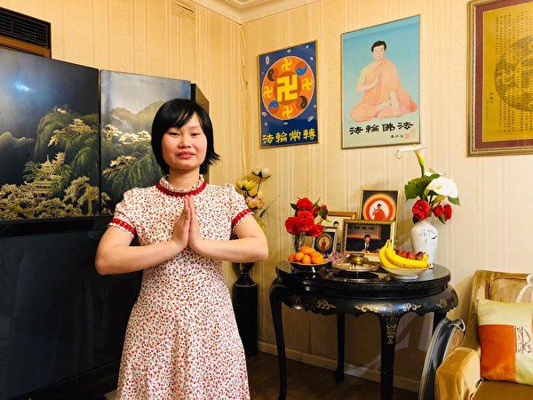 墨爾本越南裔法輪功學員Thao祝願李洪志師父中秋快樂。(本人提供)