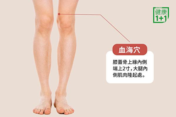 消腿部水肿的穴位:血海穴(健康1+1/大纪元)