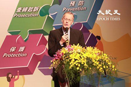 美國在台協會處長酈英傑表示,他肯定臺灣對於人權的重視及為了打擊人口販運所投入的努力。