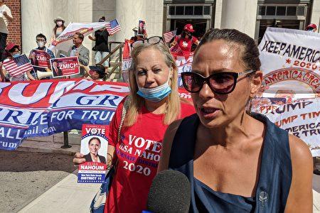 图为州参议会第11选区参议员共和党籍参选人Elisa Nahoum,接受大纪元媒体集团采访。
