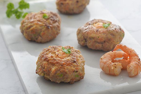 【低醣版食譜】薑黃鮮蝦餅