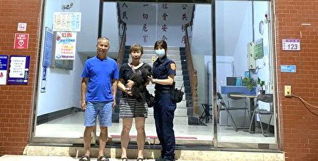 毛小孩的女主人相当感谢警方的热心与善心。