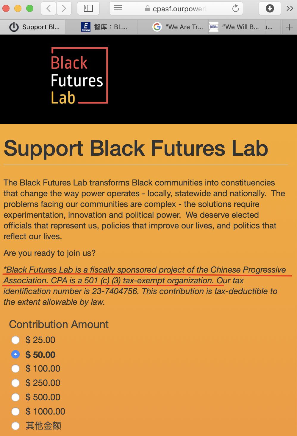 「華人進步會」資助BLM創始人設立新機構