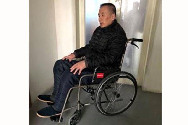 被迫害致癱的劉宏偉在中共監獄中煎熬了13年。(明慧網)