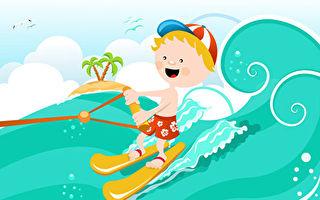 美國半歲男寶寶湖上帥氣滑水 驚豔網民