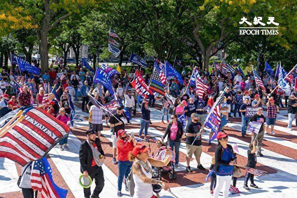 【视频】罗德岛挺川普集会 民众赞减税和振兴经济