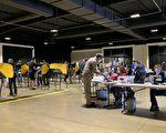 洛县提前投票首日 华裔为选川普踊跃投票