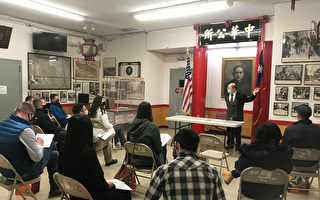 西點軍校訪問紐約中華公所與華僑學校