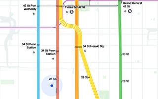 """MTA推出""""活地图"""" 可实时追踪列车运行"""