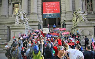 纽约挺川游行爆激烈冲突