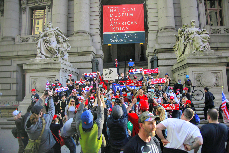 紐約挺特朗普遊行爆激烈衝突