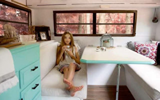 美國11歲才女購露營車 自己裝修成溫馨小家