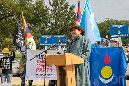 南蒙古人權信息中心主任恩和巴圖(Enghebatu Togochog)。(林樂予/大紀元)
