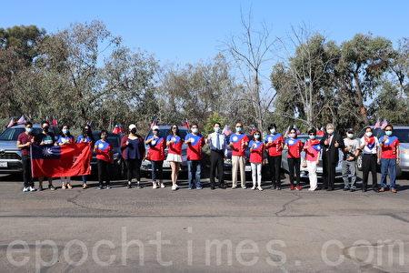 聖地亞哥僑界車隊遊行慶「雙十」