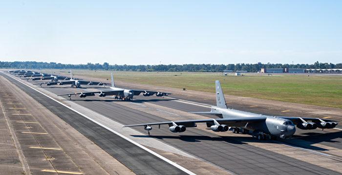 美B-52轟炸機執行奔襲中東任務