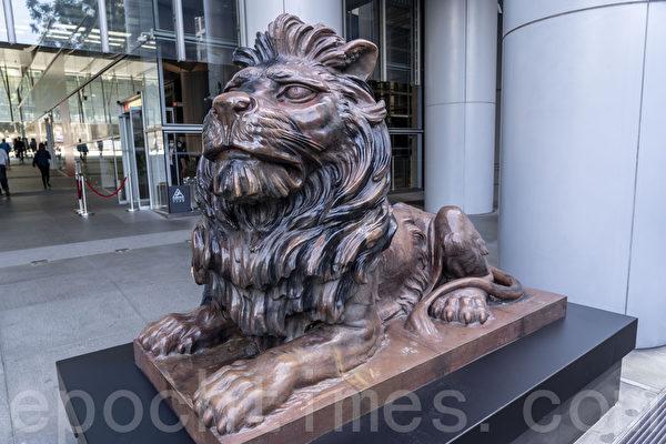 汇丰铜狮复修后重新向公众展示