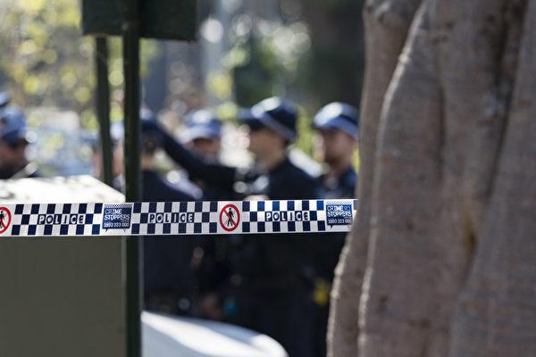 悉尼警方现场拉起隔离线