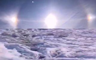 漠河現「幻日」 黑省降雪壓趴水稻 農民心痛