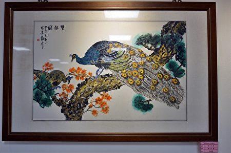百歲人瑞林黃勸阿嬤的畫作。