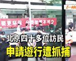 【一线采访视频版】北京数十位访民申请游行被抓