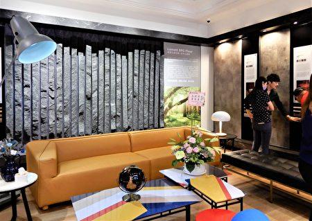 120大坪數的展示中心中,展示超過80款SPC石晶地板, 分別鋪設在旗艦店地板。