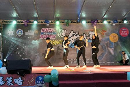 飆舞大賽。精彩的飆舞之夜讓在場民眾感受健康與青春的活力。